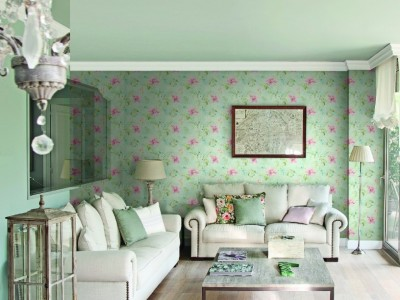 Обои Aquarelle Wallcoverings Wisteria Cottage